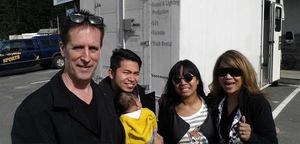 From left: Steve Marshall, Brian Esteras, Michelle Esteras, Luisa Marshall and baby Shiloh.