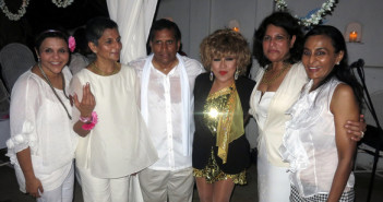 Luisa Marshall with Anil and Shobana's family