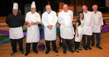 AUTISM SUPPORT NETWORK CAPTION Chef Peter Bucher, with his fabulous team and apprentices cooked up a storm of delicious bites