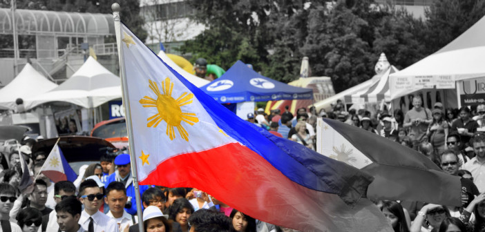 Independence Day Philippine Flag. Photo by Bert Morelos