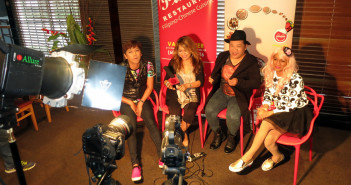 Luisa Marshall from Simply the Best TV Show interviews Klownz at Meet & Greet.