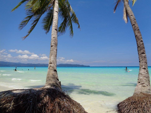 Boracay beach in the Philippines.