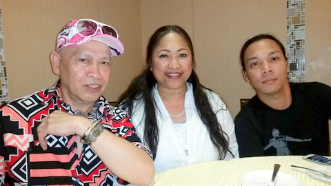 From left to right: Alleged Juatco family victims, Rollie Salazar, Nellie Vandt and Maevn Hauser.
