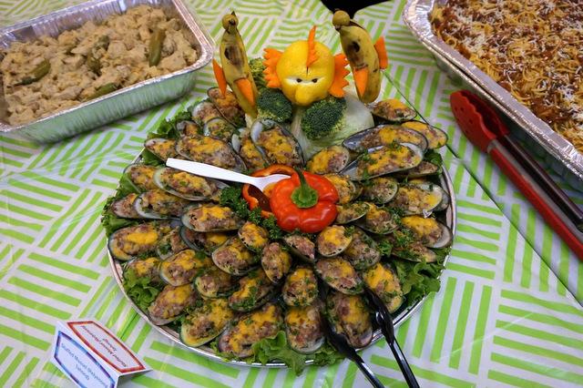 1st place dish, Jocelyn Areno's Stuffed Mussels.