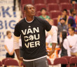 Biyombo during pre-game warm up at Rogers Arena. Photo by Simply the Best - The Luisa Marshall Show