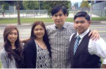Renato Castro and his family.