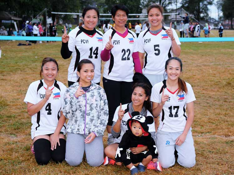 """We are Number One!"" Nissan women's team - 2016 Migrante BC Volleyball Champion"