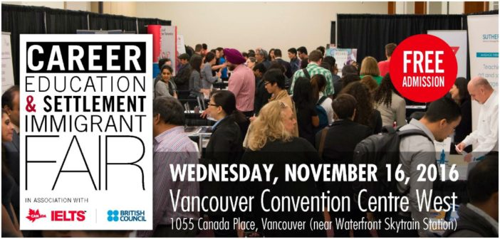 Vancouver Career, Education and Settlement Immigrant Fair