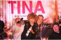 Luisa Marshall as Tina Turner on stage with her Nutbush dancers to a sold out crowd in Medicine Hat.